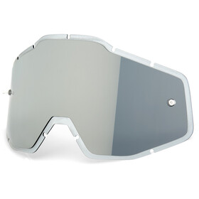 100% Mirror Anti-Fog F. Injected Lenses Racecraft/Accuri/Strata silver flash mirror/clear an